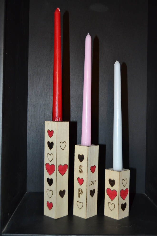 Wood Burning Class #3: Candlesticks