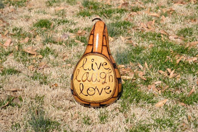 L3 (live laugh love) Basket Gourd