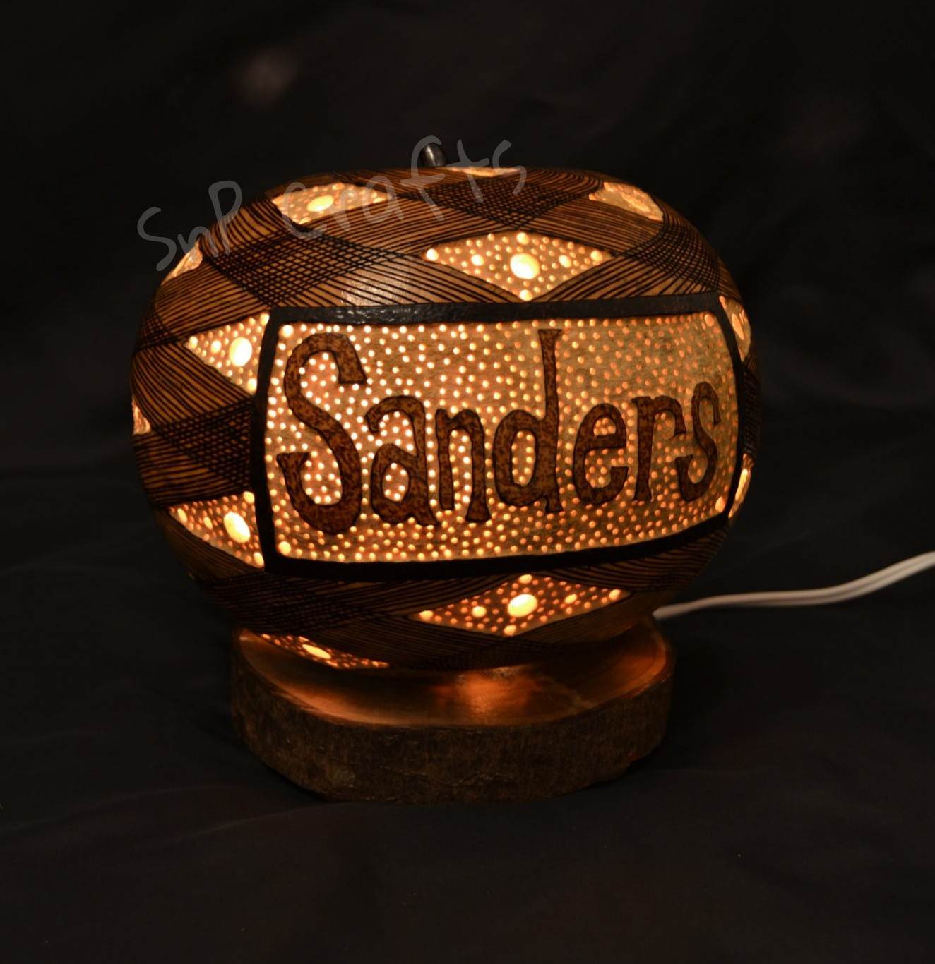 Custom Gourd Lamps SnP Crafts